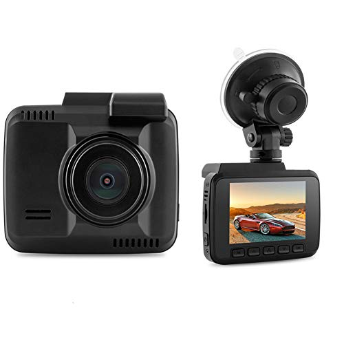 "KASIQIWA DashCam Coche, 1080P HD Coche cámara DVR Dashboard cámara grabadora de vídeo con 150 ° Gran Angular WDR 2,4\""Pantalla LCD Monitor de visión Nocturna GPS y G-Sensor"