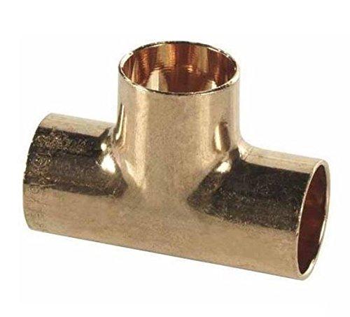 Tubo Raccordo diritto tee a saldare in rame di tenuta impianto di acqua 22x22x22mm