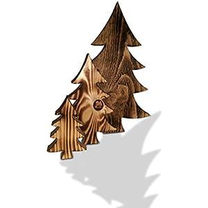 Tannenbaum 3er Set aus Fichtenho