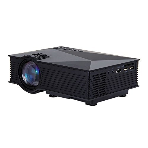 1200 Lumens WiFi Wireless Full Color 130 Image Pro Mini Portable LCD LED Home Theater Cinema Game Projector HD 800x480P Video Support IP/IR/USB/SD/HDMI/VGA