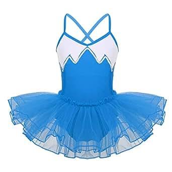 Image indisponible. Image non disponible pour la couleur   Agoky Robe de  Danse Classique Tutu Enfant Fille Justaucorps Danse Ballet ... 3a11d795e1f