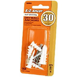 ITW BRANDS - EZ Anco #30 Self-Drilling Drywall Anchors, 6-Pack