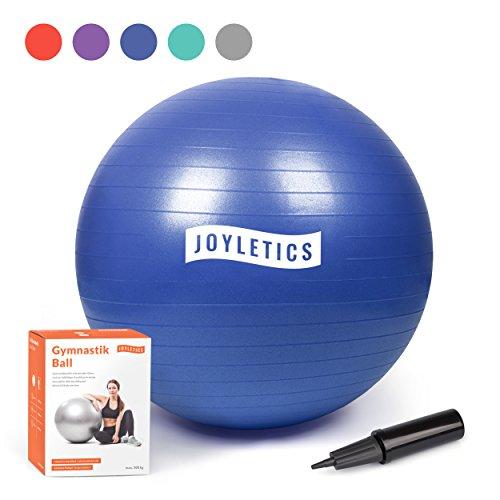 Winkel Ball (Joyletics® Gymnastikball »S« | Sitzball und Fitnessball für ein entlastendes Sitzen und vielfältiges Ganzkörpertraining | Gymnastik-Ball Durchmesser 65 cm, blau)