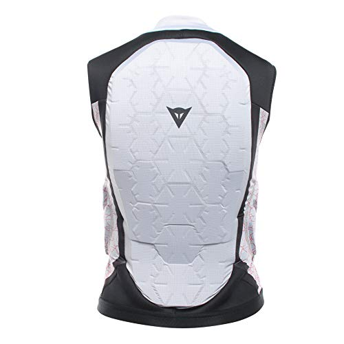 Dainese Kinder Flexagon Waistcoat Ski Protektor, Vapor-Blau/High-Risk-Rot, JL