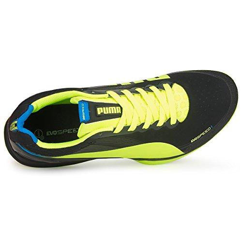 Puma evoSPEED Indoor 1.2, Chaussures indoor mixte adulte Noir - Nero (nero)