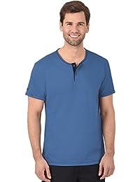 Trigema T-shirt en coton bio à boutonnière