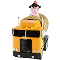 Toy Story–V0864–Figur–Spardose und sein Fahrzeug mit Aufziehmotor