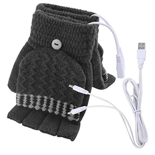 Guantes térmicos sin dedos de Yinuoday para hombres y mujeres, ideales para mantener tus manos calientes en el invierno, lavables, color Men Grey, tamaño universal