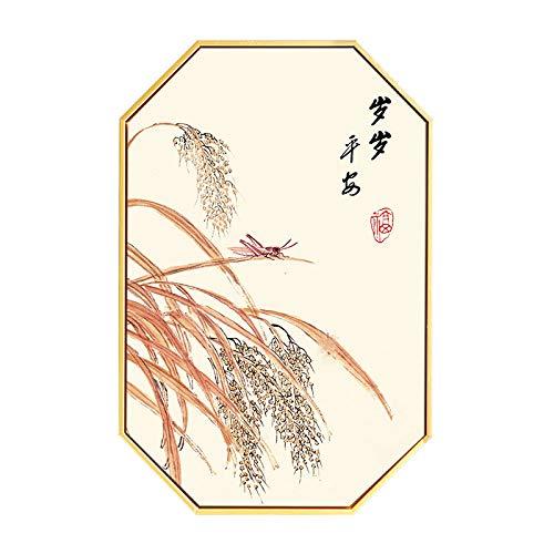 Moderno antichità fiori ottagono arte muraria dipinti decorativi tela stampare stile cinese inchiostro ad acqua pittura a colori pittura ad olio soggiorno sfondo pittura appesa,d,16*24inch