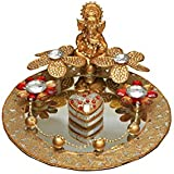 GiftingBestWishes Wedding Tray /Decorative Tray/ Engagement Ring Platter/Engagement Ring Tray-with Ganesha's Idol