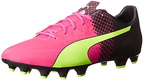 PUMA Men's Evospeed 4.5 Tricks FG Limited Edition Soccer Cleat, Pink Glow/Safety Yellow, 11 D US