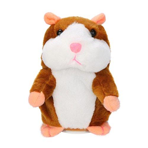 Sprechen Spielzeug Hamster (Talking Plüsch Hamster, Gusspower Sprechen Hamster Kinder Stofftier Wiederholt Was Sie sagen, Interaktive Spielzeug für Valentinstag, Geburtstag, Weihnachten, Kinder Frühes Lernen Geschenk (Khaki))
