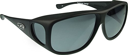 Jonathan Paul AVIATOR Überbrille - XL - rechteckig Matte Black - Grau