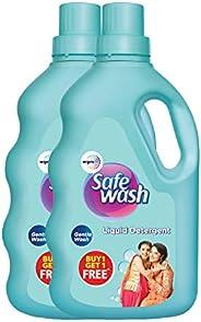 Safewash Liquid Detergent by Wipro, 1L (Buy 1 Get 1 Free)