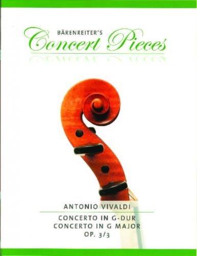 Vivaldi: Concerto in G Major Op. 3/3 for Violin & Piano