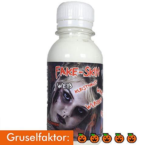 King of Halloween Latexmilch, Kunsthaut, FX Schminke, Halloween Make Up, Zombie Make Up, Wunden und Narben herstellen (100 ml, weiß) -