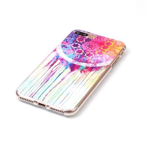 iPhone 7 Plus Hülle,iPhone 7 Plus Silikon Case,iPhone 7 Plus Cover - Felfy Ultra Dünne Weicher Slim Gel Flexible Soft TPU Silikon Hülle Schutzhülle Silikon Hülle Muster Farbmalerei Beschützer Hülle Ha Traumfänger