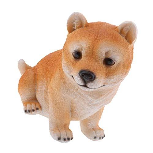 Backbayia Hundespielzeug Border Collie Welpen Golden Retriever Tierfigur Geschenk für Kinder -
