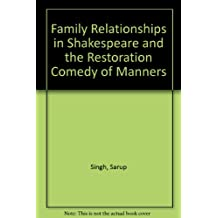 Family Relationships in Shakespeare and the Restoration Comedy of Manners