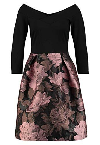 Anna Field elegenates Cotailkleid - Blumenkleid für Damen - Kleid schwarz in Größe 38