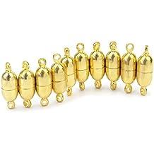 10 Piezas Dorado Cierre Corchete Hebilla magnético para Pulsera Collar