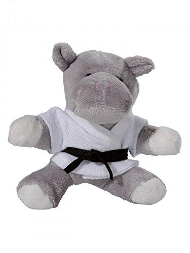 KWON Hippo Hippy PLÜSCH Schlüsselanhäger Mini-Plüschtiere Nielpferd Karate Judo Kickboxen Budo Kampfsport Ju Jutsu TKD Taekwonde BJJ Aikido Kick Boxen