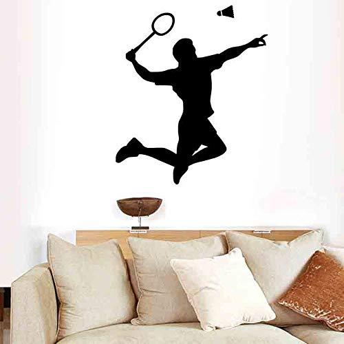 Wandaufkleber selbstklebende PVC Sport Zeichen spielen Badminton Schlafzimmer Wohnzimmer Dekoration entfernbare Wandaufkleber