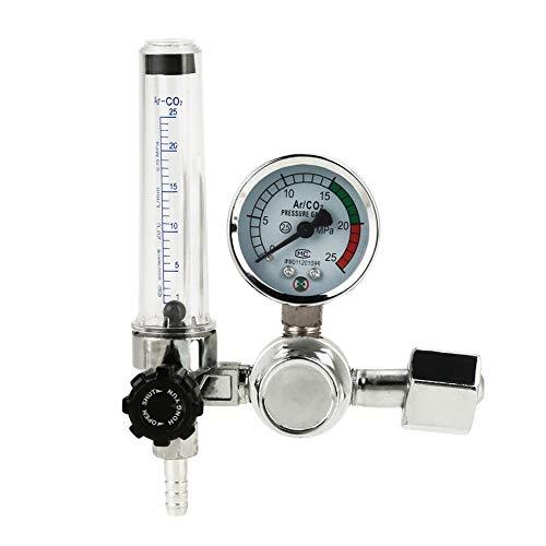 Akozon Medidor de flujo de argón, medidor de regulador de presión de 0-25MPa para soldadura Soldadura...