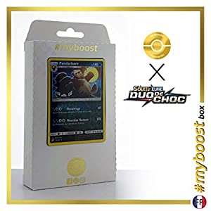 Pandarbare (Pangoro) 94/181 Holo Reverse - #myboost X Soleil & Lune 9 Duo de Choc - Box de 10 Cartas Pokémon Francés