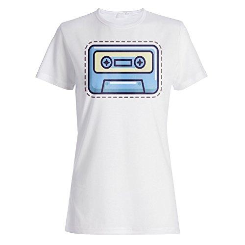 INNOGLEN Cassette Smile Frão Camiseta de Las Mujeres r619f