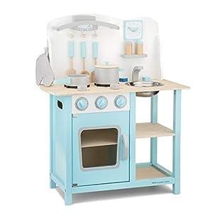 New Classic Toys Kitchenette-Bon Appetit-Blue, Multicolore Color (11057)