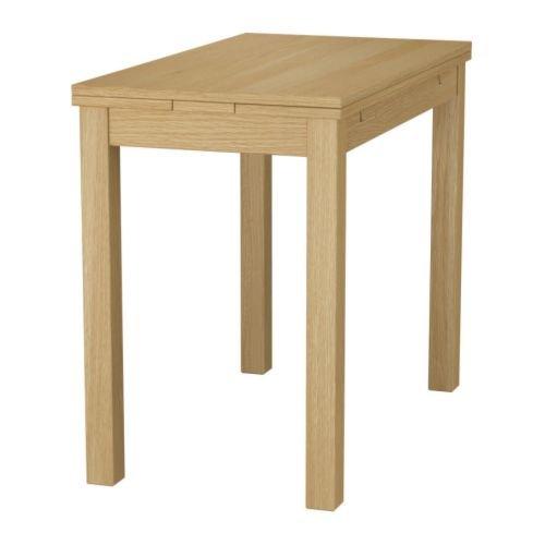 Ikea BJURSTA Klapptisch ausziehbaren Tisch, Eiche Furnier–50/70/90x 90cm