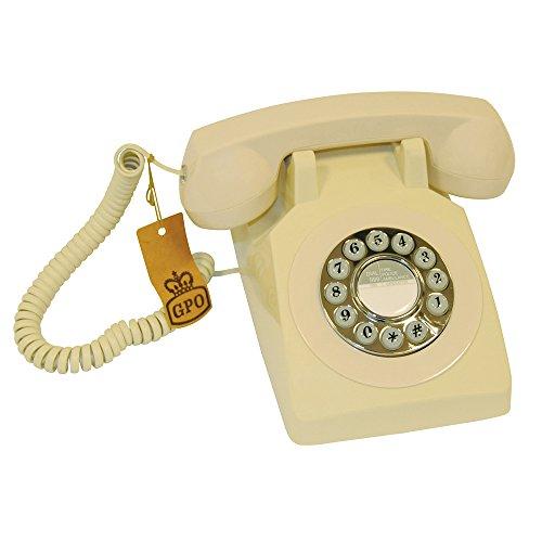 gpo-1970-push-button-ivory-telefono-de-dial-giratorio-diseno-retro-color-beige