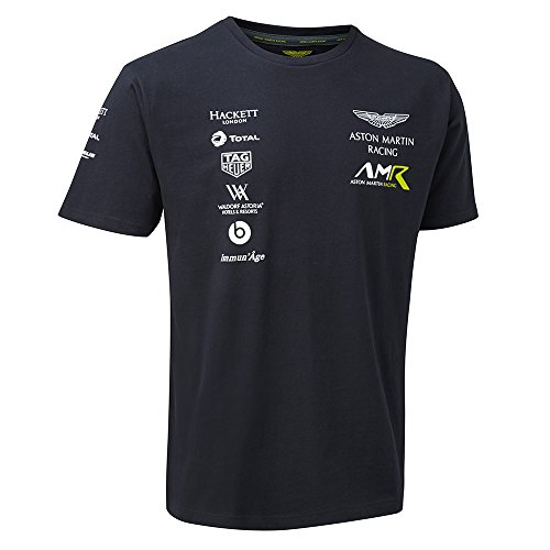 ASTON MARTIN 2018 Racing Team Herren Sport T-Shirt Marineblau Größen XS-XXXL, Navy, Mens (XL) Chest 42-44 inches -