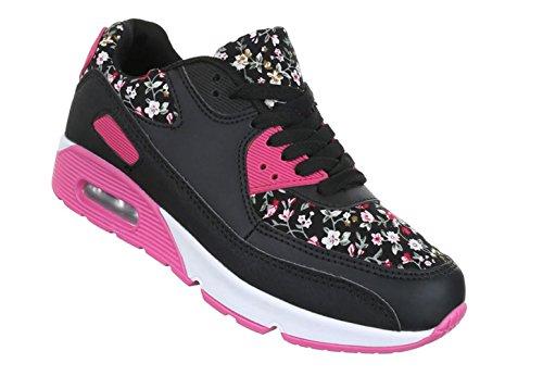 Damen Freizeitschuhe Schuhe Runner Sportschuhe Low-top Sneakers Schnürer Schwarz 36 37 38 39 40 41 Schwarz