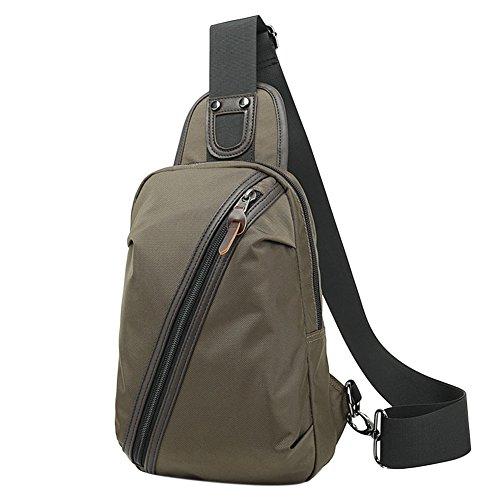 Große Kapazität Freizeit Outdoor Umhängetasche Oxford Rucksack Messenger Männer Tasche als Weihnachtsgeschenke ArmyGreen