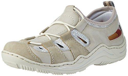 Rieker Damen L0561 Sneakers, Grau (Vapor/Ice/Silverflower/42), 40 EU