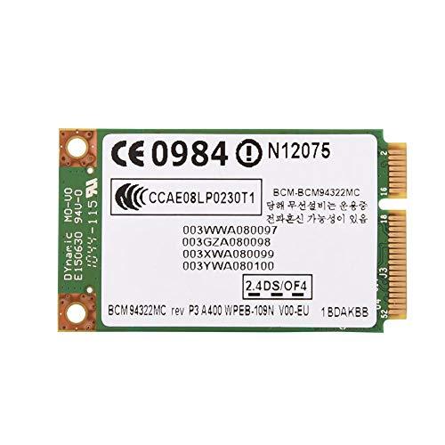 Denash PCI-E-WLAN-Karte, 2,4G + 5G Dual-Band-Mini-PCI-E-WLAN-Karte für HP/MAC/Dell/Acer, 300 Mbit/s hohe Übertragungsrate