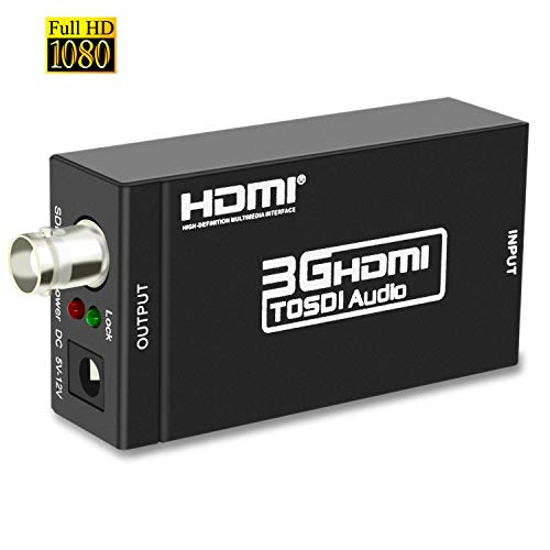 Lemorele Adaptador HDMI SDI Audio 1080p@60Hz Convertidor