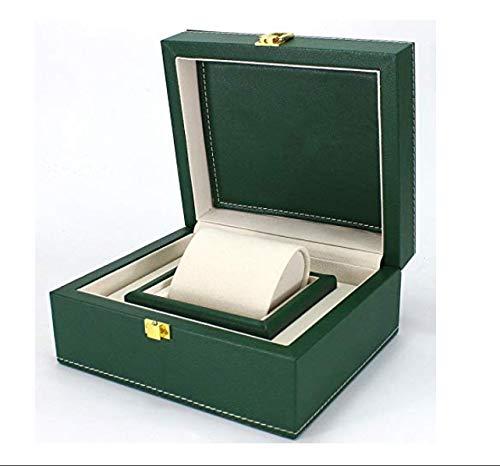 ROUHO PU Lederbox Grün Uhr Verpackung Uhr Box Uhr Anzeigebox Für Rolex (Rolex Box)