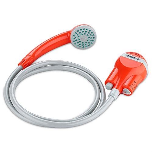 Suaoki Campingdusche mit Tauchpumpe, Tragbar Outdoor Dusche Wasserpumpe für Camping - Auto - Outdoor Mobile Dusche Reisedusche