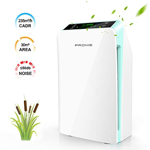 Air purifier, PREUP Purificatore Aria, Purificatore d'Aria con Vero filtro HEPA,...