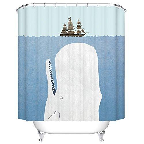 yukihome Bad Badezimmer Dusche Vorhang-Set mit Haken, Schimmelresistent, wasserdicht, Polyester-Stoff, 182,9x 182,9cm 2 (Dusche Vorhang Badezimmer-set)