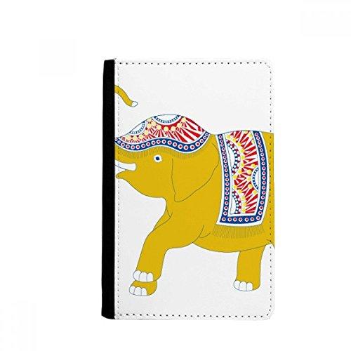beatChong Tailandia Escudo Elefante Amarillo Monedero Tarjeta De Caso De La Cubierta Cartera De Viaje De Pasaporte