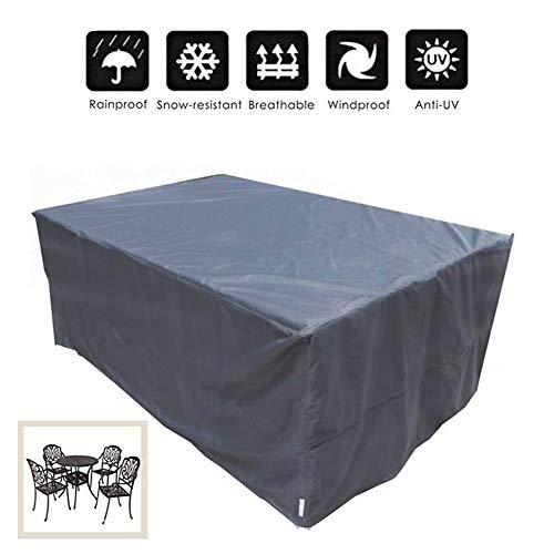 WYUKUAN-Gartenmöbel Abdeckung Terrassenüberdachung Reißfestigkeit Wasserdicht Anti-UV Oxford Tuch Draussen Tisch- Und Stuhlabdeckung, 33 Größen (Color : Gray, Size : 200×160×70cm)