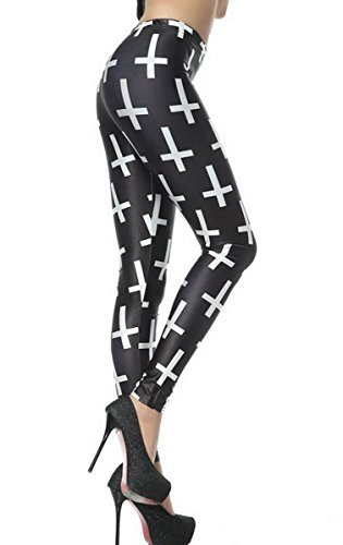 Ahatech Damen Gedruckte Leggings - 22 Muster Farbe 19