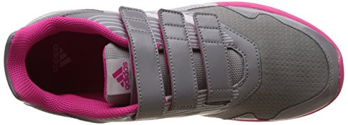 adidas AltaRun CF K BA7917 Mädchen Klettverschluss/Slipper Halbschuh sportlicher Boden mid grey/ftwr white/shock pink