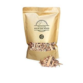 Smokey Olive Wood 1'7 litros, virutas de Madera de encina para Barbacoa y ahumar, Talla 2-3cm