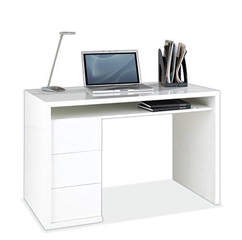 Nicht Zutreffend Schreibtisch Computertisch Arbeitstisch MORTEN 3   Weiß Hochglanz