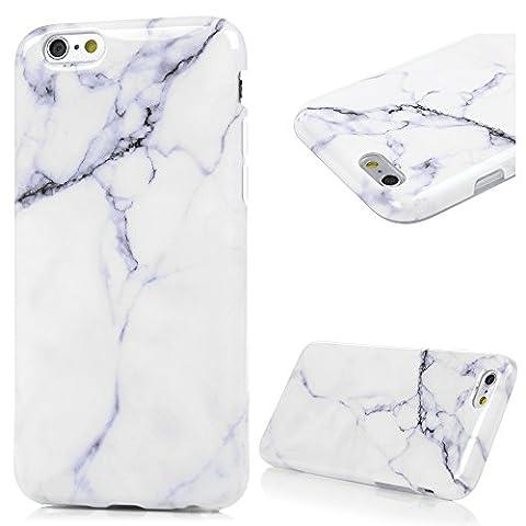 iPhone 6Cas, iPhone 6S–MAXFE. CO Motif marbre coloré peint Coque en TPU antichocs, ultra mince souple et flexible résistant aux rayures Housse de protection pour iPhone 6, iPhone 6S